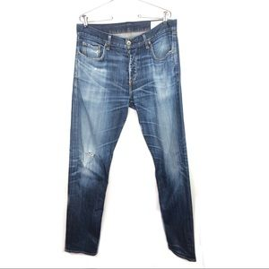 Rag & Bone Button Fly Standard Issue Slim Straight